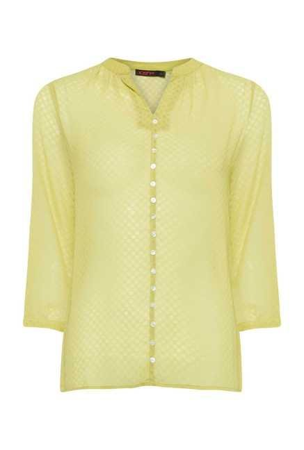 109 F Lime Geometric Printed Top