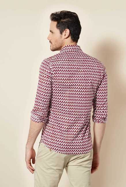 Easies Red Egyptian Print Shirt