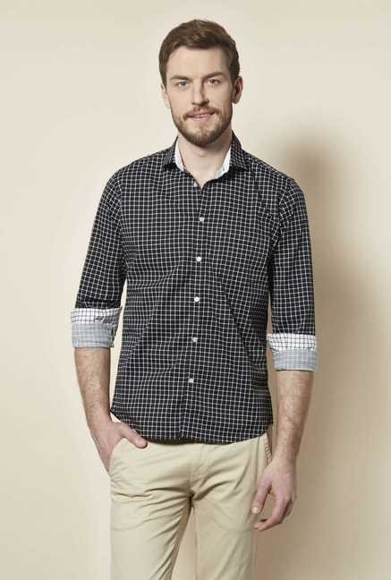 Easies Black Check Shirt