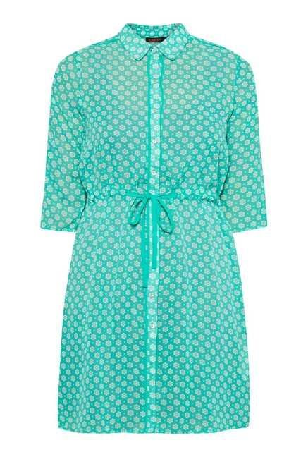 109 F Green Block Print Tunic