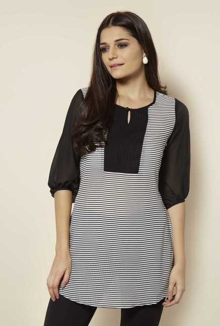 109 F Black Stripes Tunic