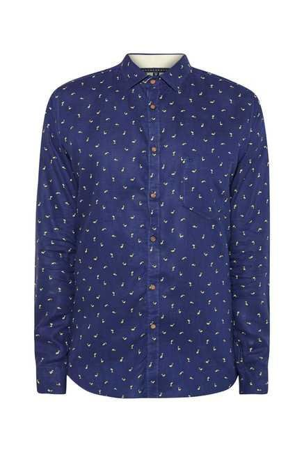 Easies Navy Dolphin Print Shirt