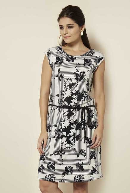 109 F Black Print Casual Dress