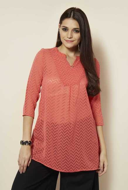 109 F Coral Embroidered Kurta