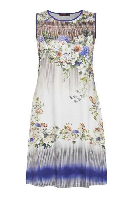 109 F Multicolor Floral Casual Dress