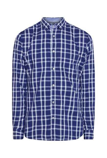 Easies Blue Checked Shirt