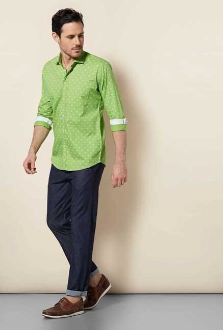 Easies Green Galaxy Print Shirt