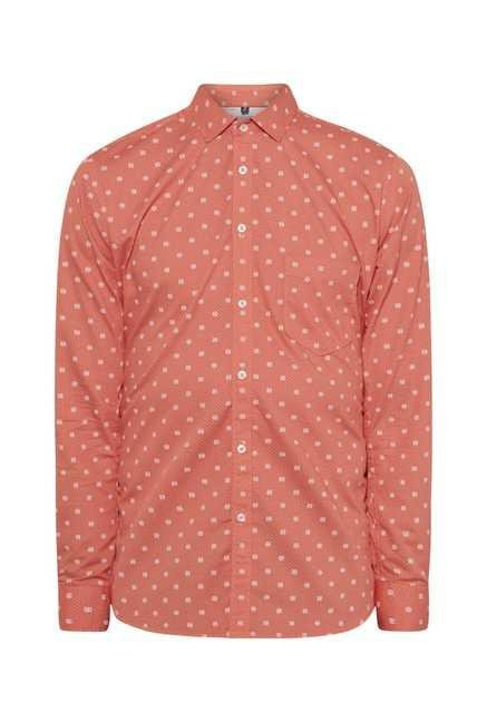 Easies Tomato Red Galaxy Print Shirt