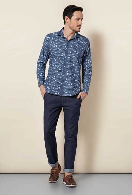 Easies Indigo Printed Shirt