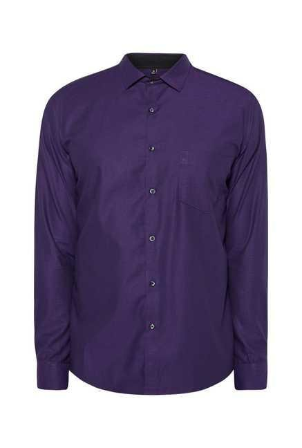 Easies Purple Textured Shirt