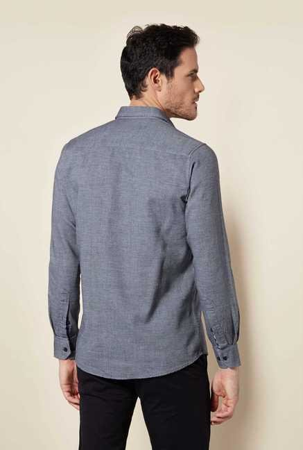 Easies Grey Textured Shirt