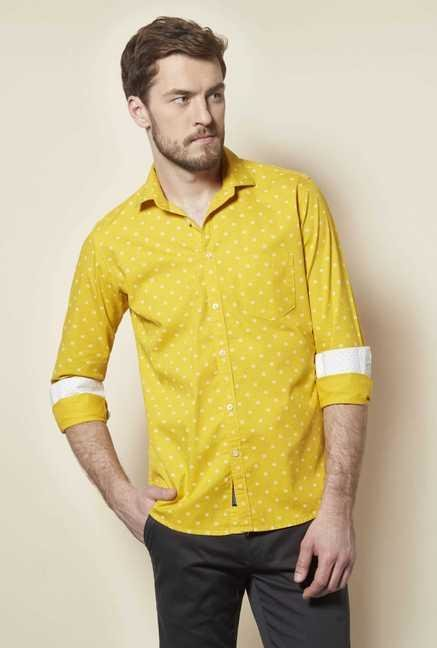 Easies Yellow Galaxy Print Shirt