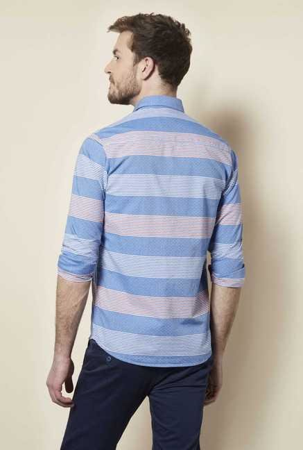 Easies Blue Motif Stripe Shirt