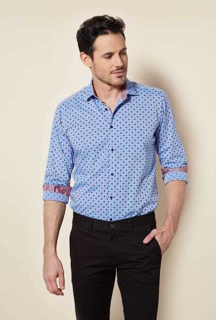 Easies Blue Floral Print Shirt