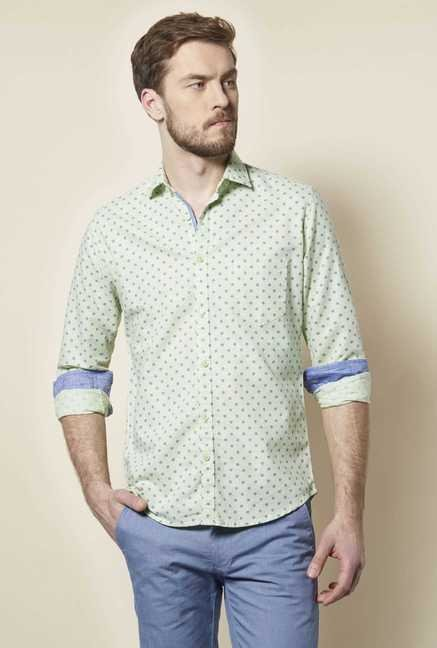 Easies Green Oasis Print Shirt