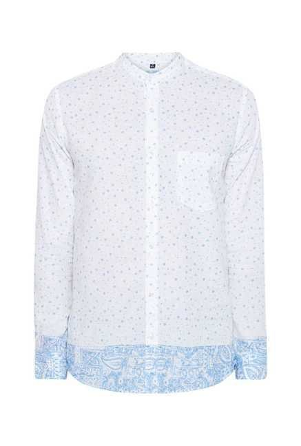 Easies Sky Blue Polka Dot Shirt