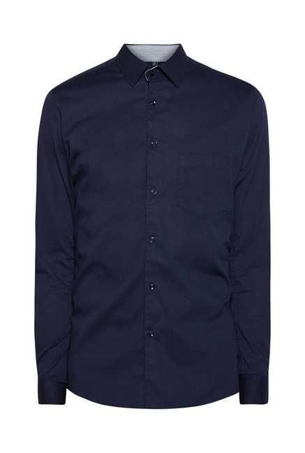 Easies Navy Slim Fit Shirt