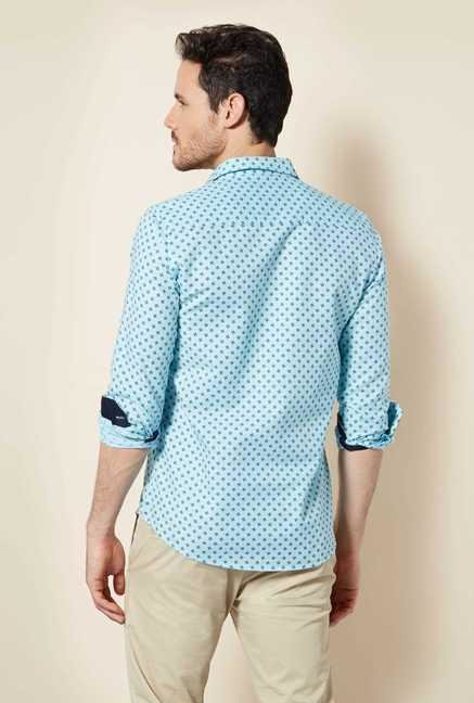 Easies Blue Print Shirt