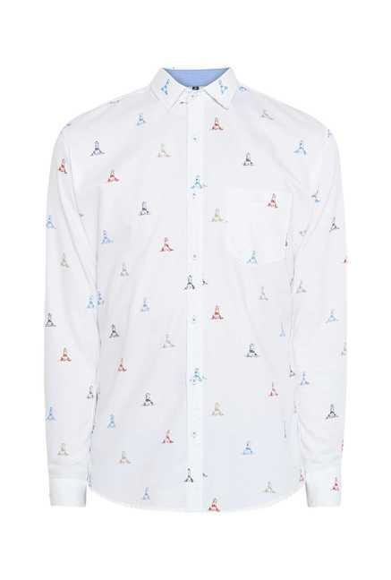 Easies White Apex Print Shirt