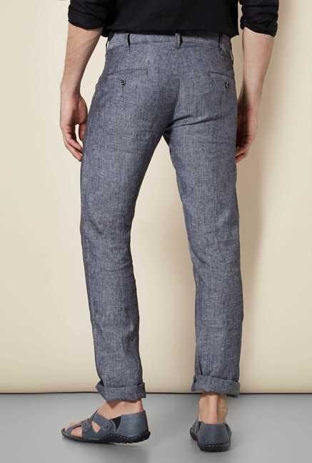 Easies Charcoal Linen Trouser