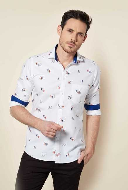 Easies White Print Shirt