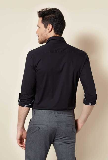 Easies Tar Black Slim Fit Shirt