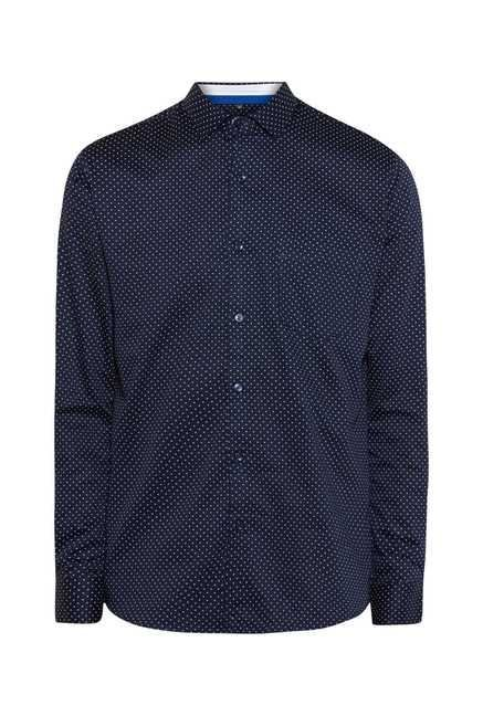 Easies Navy Classic Print Shirt