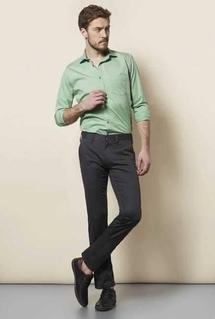 Easies Dark Grey Slim Fit Trouser