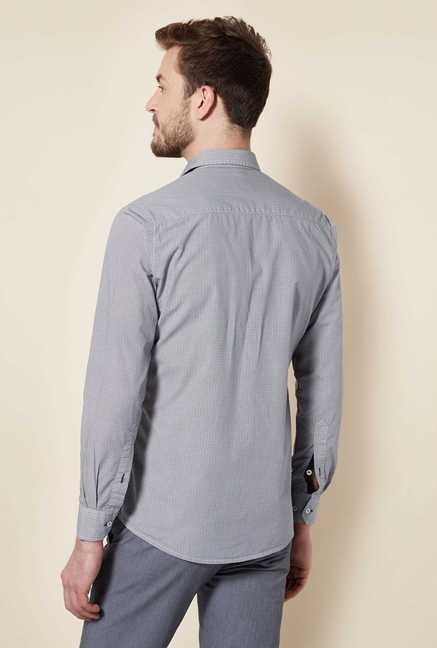 Easies Grey Block Print Shirt