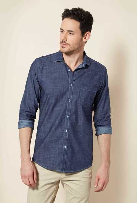 Easies Indigo Cotton Shirt