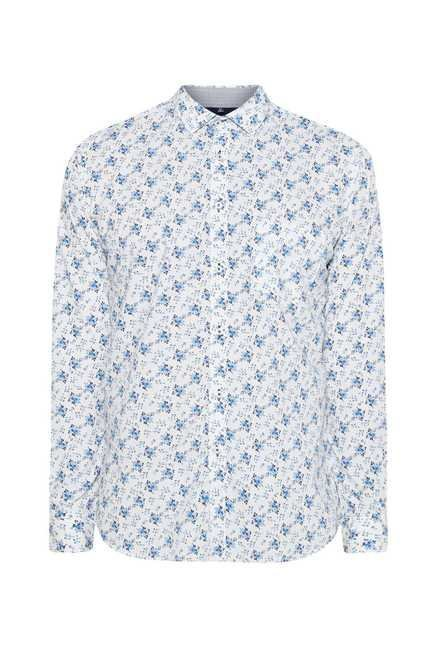 Easies Blue Orchid Print Shirt