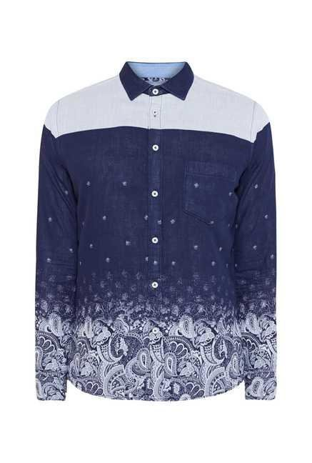 Easies Blue Polka Print Shirt