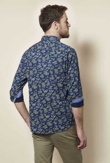 Easies Green Floral Print Shirt