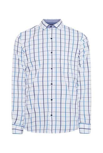 Easies Blue & Navy Checked Shirt