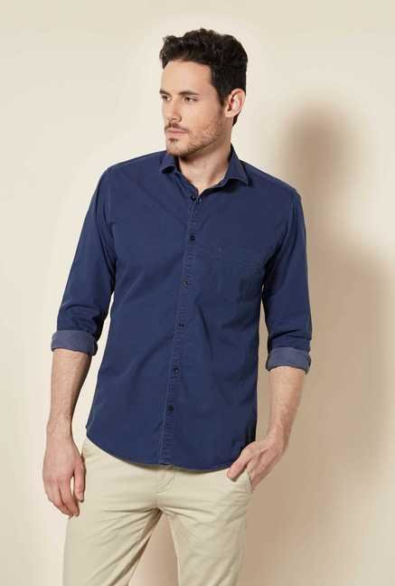 Easies Navy Dobby Shirt