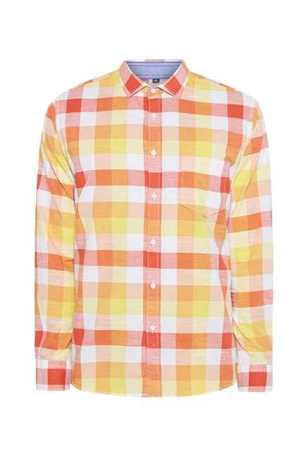 Easies Yellow Checks Shirt