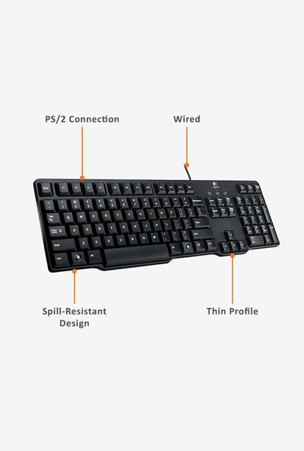 Logitech K100 Keyboard Black