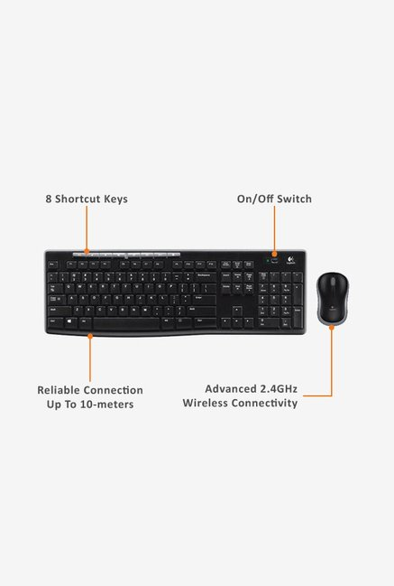 Logitech MK270R Keyboard & Mouse Black