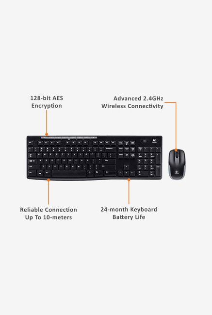 Logitech MK260R Keyboard & Mouse Black