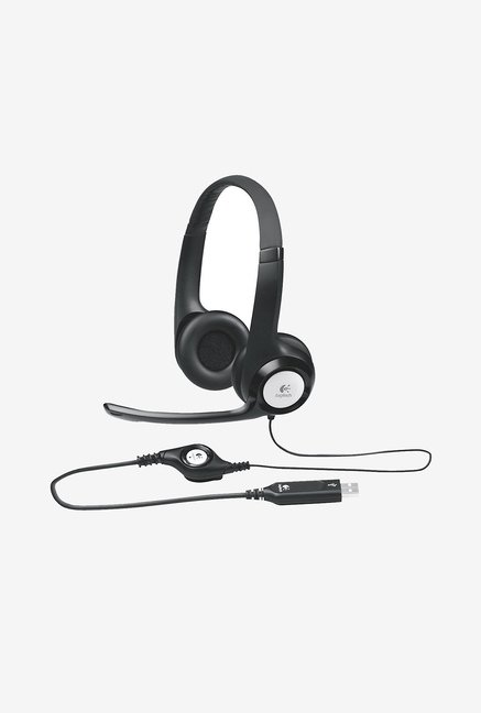 Logitech H390 Over-Ear Headphone Black