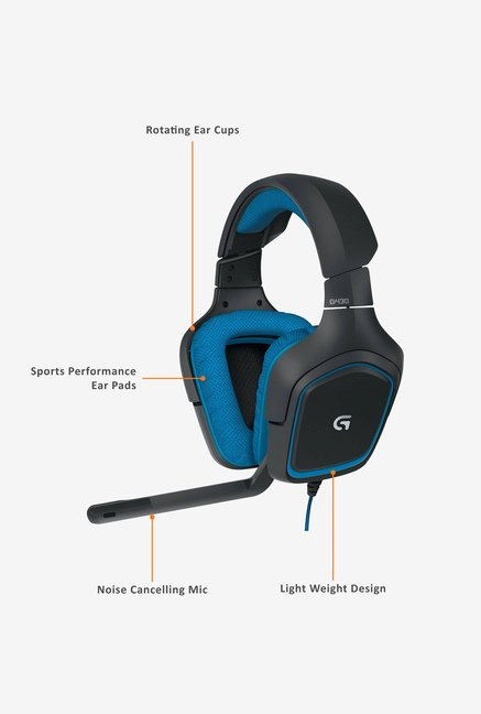Logitech G430 Over-Ear Headphone Black