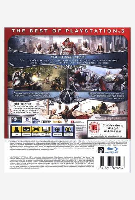 Ubisoft Assassin's Creed: Brotherhood (Essentials)(PS3)