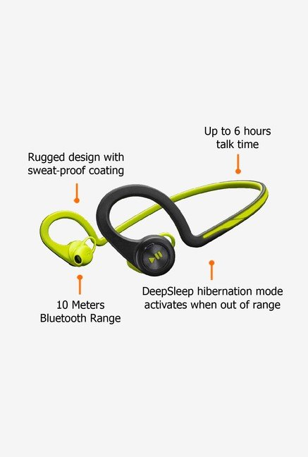 Plantronics BlackBeat Fit BBF Bluetooth Headset Green