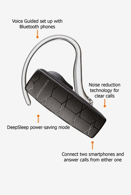 Plantronics Explorer 50 Bluetooth Headset Black