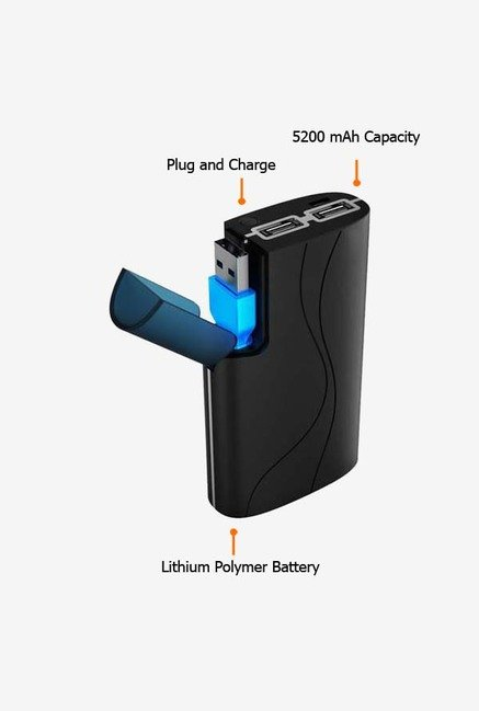 MiLi 5200 mAh HB-J52 Power Bank Black