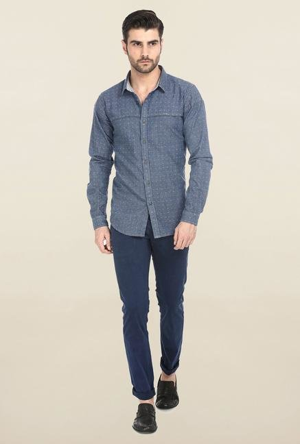 Basics Blue Twill Butta Shirt