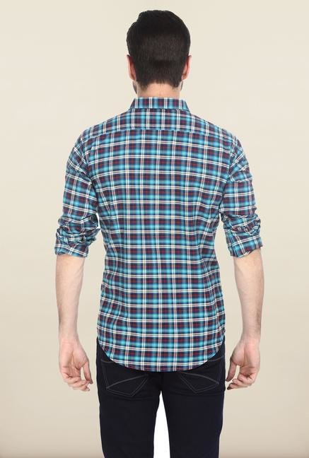 Basics Aqua Oxford Weave Shirt