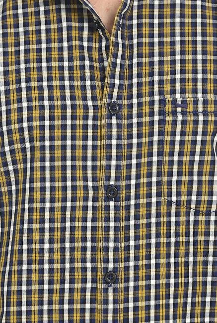Basics Yellow Sulphur Tattersall Shirt