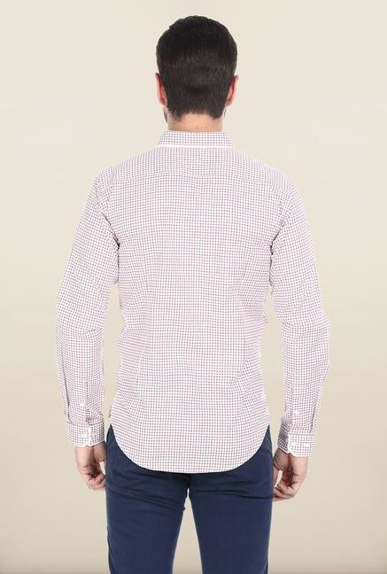 Basics White Dobby Weave Shirt