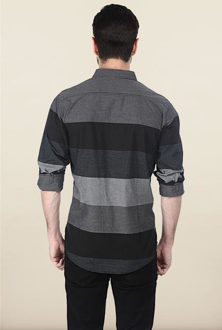 Basics Black Pinstripe Shirt